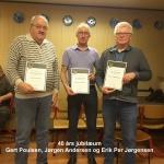 6)40 års jubilarer Gert Poulsen, Jørgen Andersen, Erik P. Jørgensen