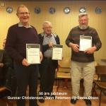 7) 50 års jubilarer Gunnar Christensen, John Petersen, Steen Olsen