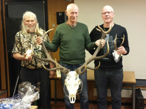 De 3 trofævindere: Jørgen G. Mortensen, Finn Byrnak og Kurt Greve