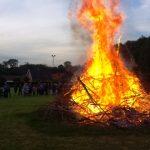 13. Bålet brændte meget flot